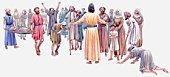 Illustration of Jesus healing people