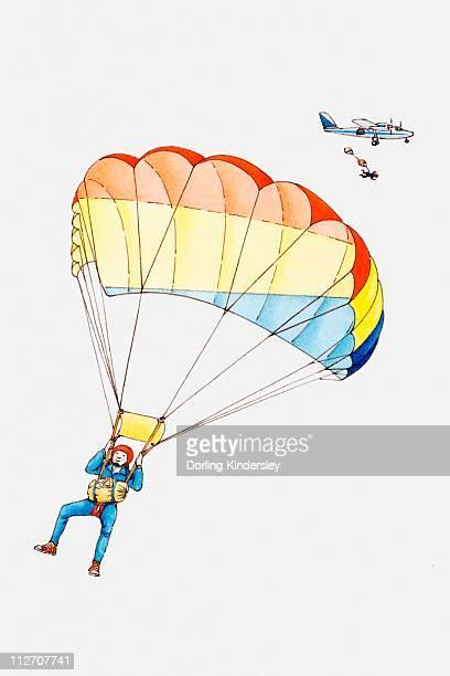 Illustrations et dessins anim s de parapente getty images - Parapente dessin ...
