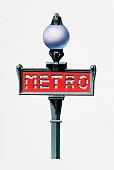 Illustration of Paris Metro sign