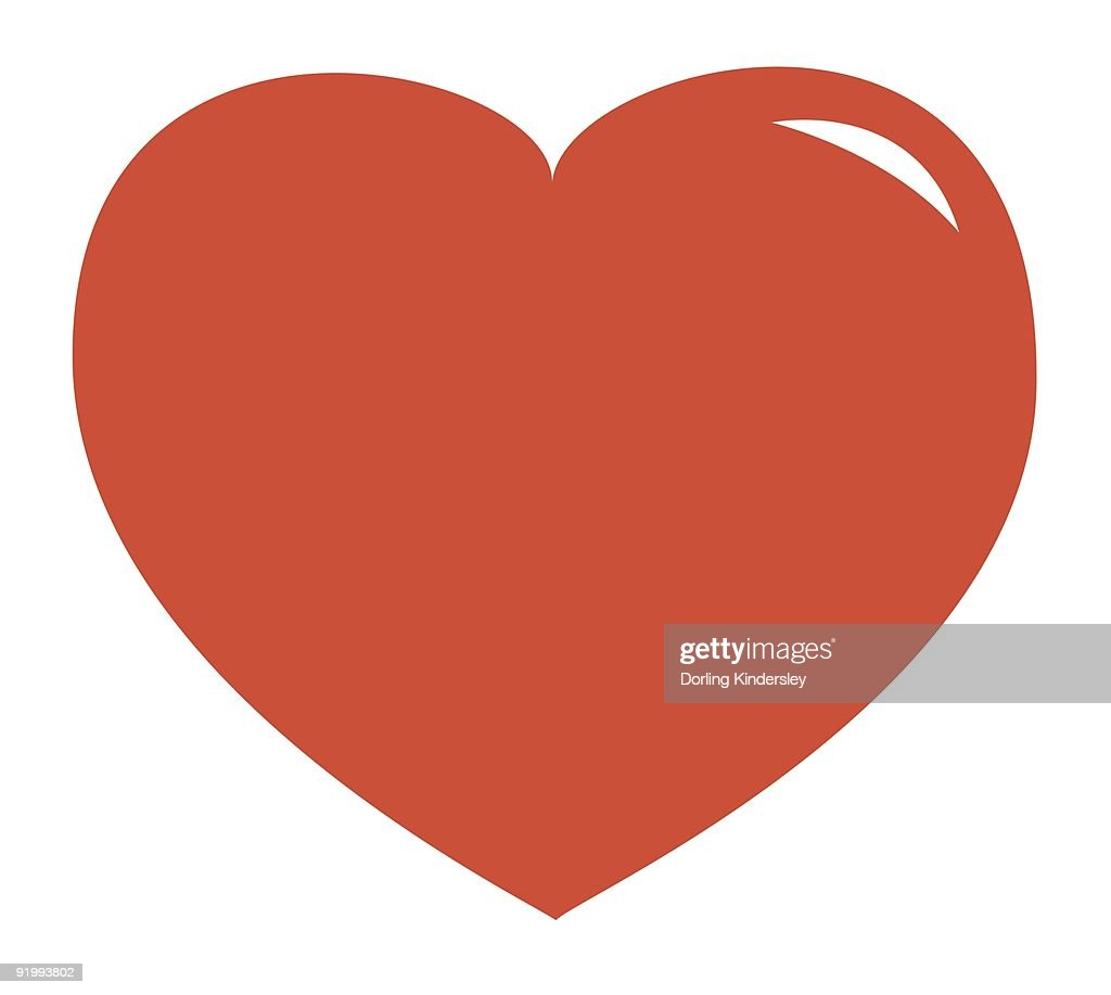 Illustration of pink heart shape symbol : Stock Illustration