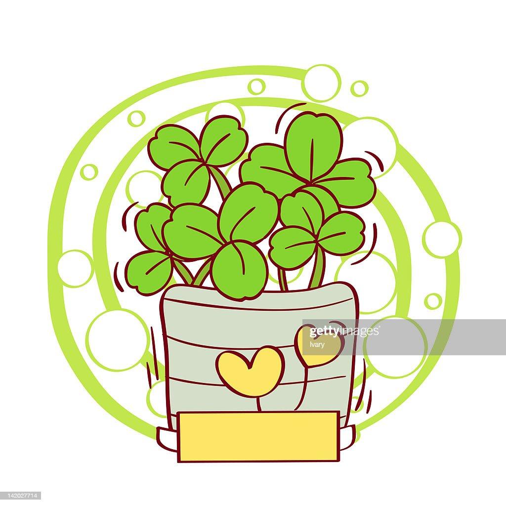 Illustration of potted plant : Stock Illustration