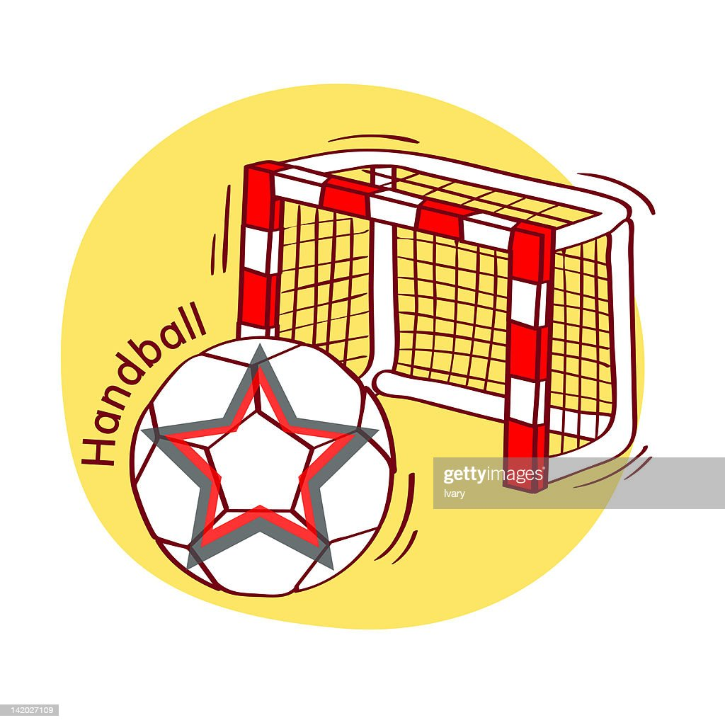 illustration of soccer ball and goal stock illustration getty images
