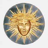 Illustration of Sun King emblem of Louis XIV of France