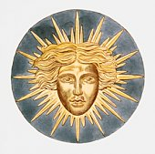 Illustration of Sun King emblem of Louis XIV of France