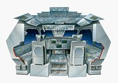 Illustration of the flight deck of a space shuttle