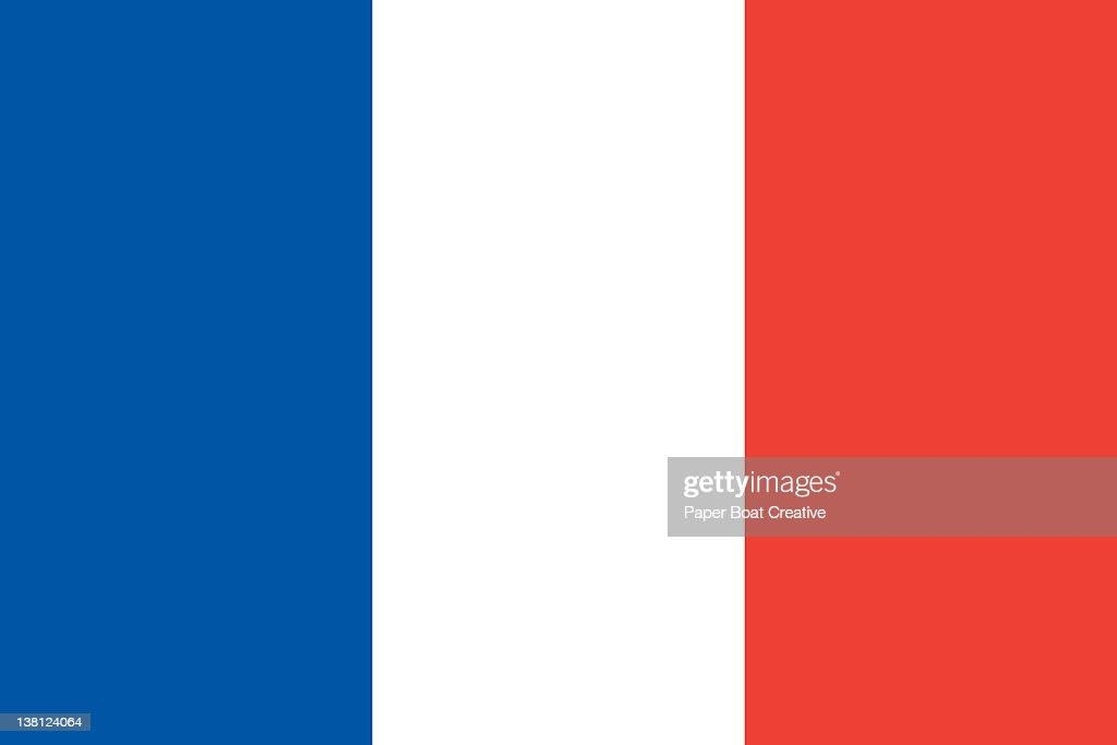 Illustration of the national flag of France : Stock Illustration