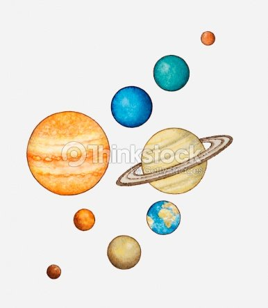 Illustration Of The Planets Of The Solar System Stock ...