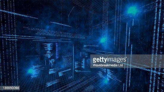 Illustration of virtual data : Stock-Illustration