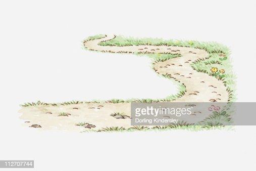 Winding Path Illustration Illustration Of Windin...