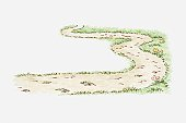 Illustration of winding path