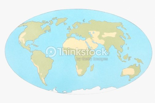 Illustration Of World Map Showing Desertification Stock Illustration