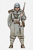 Illustration of World War Two Italian soldier