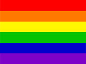 Stock photo of LGBT rainbow flag colours wallpaper background illustration as abstract concept art for lesbian, gay, bisexual, trans / transgender romance, gay LGBT rainbow flag background / backdrop