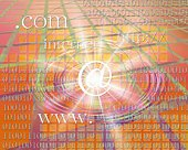 Image of web address and computer language, Computer Graphics, composition