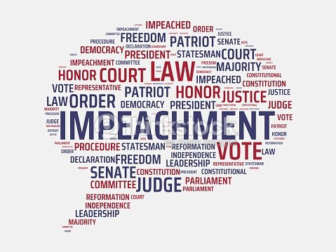 Impeachment Image With Words Associated With The Topic Impeachment