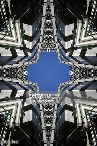 Impossible architectures: digital manipulation of Lloyd's Building in the financial district of London, UK