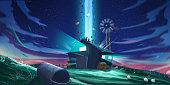 UFO Incident. SpitPaint, SpeedPaint. Concept Art. Fast Drawings. Sketch Paint. Realistic Style. Video Game Digital CG Artwork, Concept Illustration, Realistic Cartoon Style Scene Design