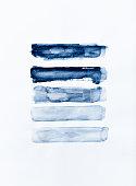 Indigo watercolor strokes