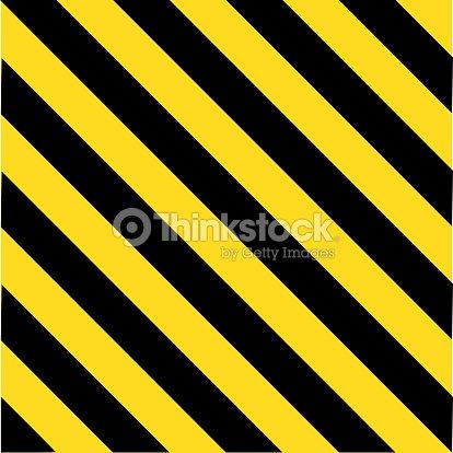 Industrial Striped Road Warning Yellowblack Pattern stock