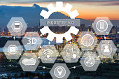 industry 4.0 concept on refinery industry zone