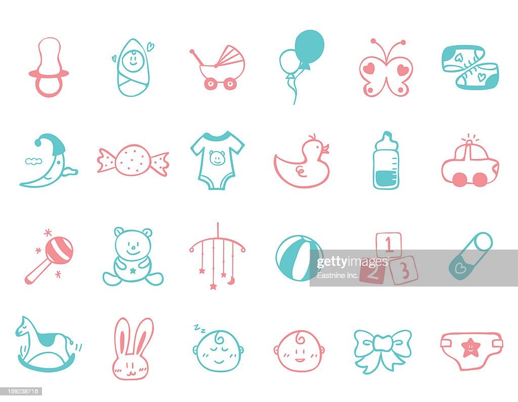 infant Icon set : Stock Illustration
