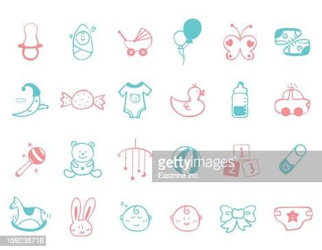 infant Icon set : Stock Illustration