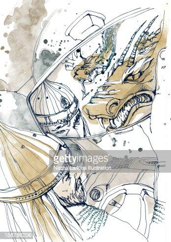 Inside fears as seen  through a mirror : Stock Illustration