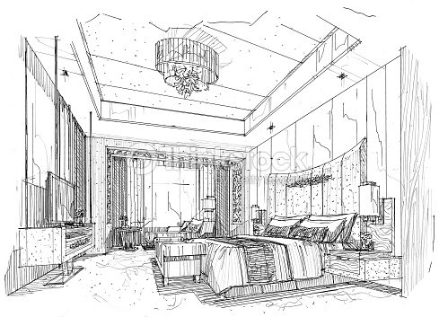 Interior Lines Perspective Interior Perspective Rendering Stock Illustration Thinkstock