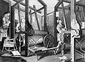 Interior of 18th Century English Textile Mill