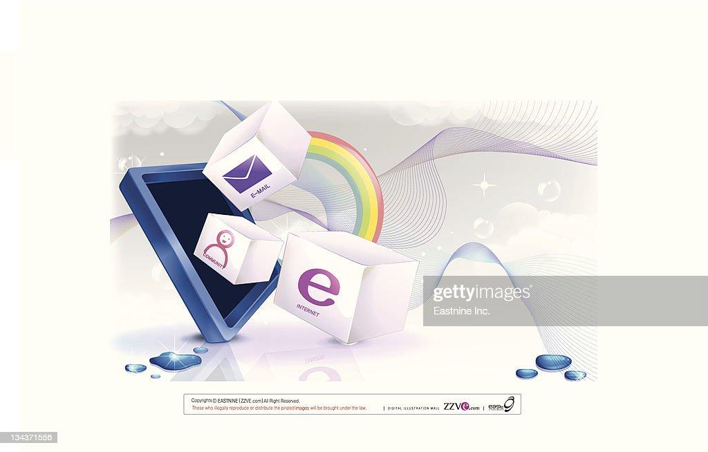 Internet symbol vector : Vector Art