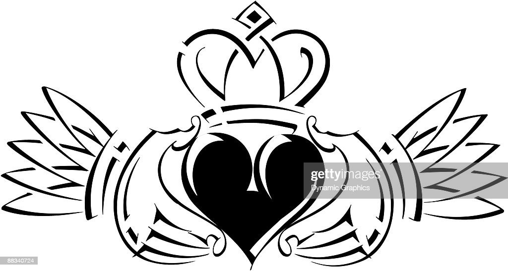 irish claddagh an irish symbol its a sign vector art thinkstock rh thinkstockphotos com claddagh symbol clip art claddagh clip art pictures