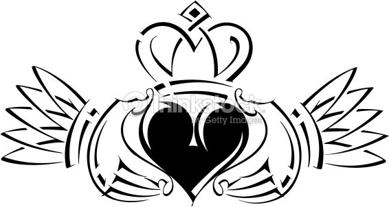 Irish Claddagh An Irish Symbol Its A Sign Vector Art Thinkstock