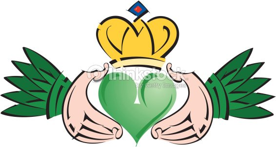 Irish Claddagh Color Illustrator Ver 5 An Irish Symbol Its A Sign