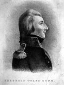 Irish nationalist Theobald Wolfe Tone A prominent member of the United Irishmen Society in the 1798 Rebellion he committed suicide while under...