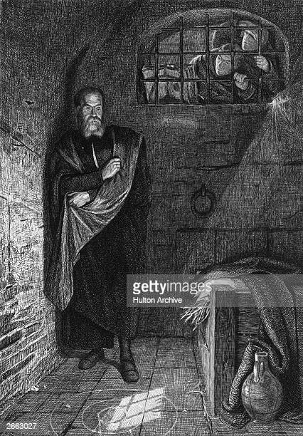 Italian astronomer philosopher and physicist Galileo Galilei in prison for his scientific creed circa 1620 Original Publication People Disc HD0131