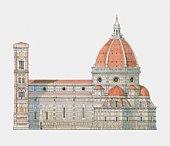 Italy, Tuscany, Florence, Basilica di Santa Maria del Fiore (Florence Cathedral)