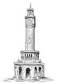 izmir clock tower, izmir saat kulesi