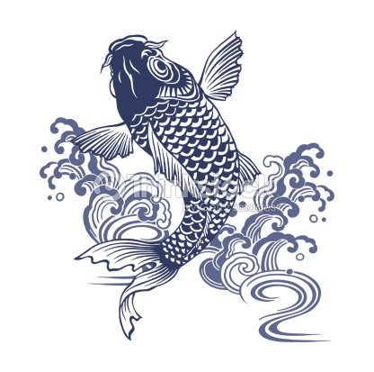 Carpe japonais illustration thinkstock for Carpe koi bleu