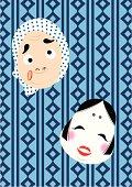 Japanese Masks, Painting, Illustration, Illustrative Technique
