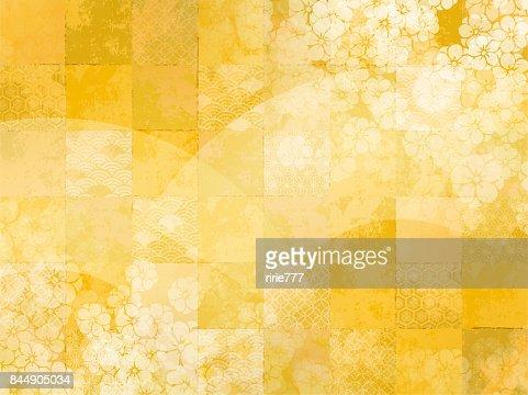 Japanese pattern background : Stock Illustration