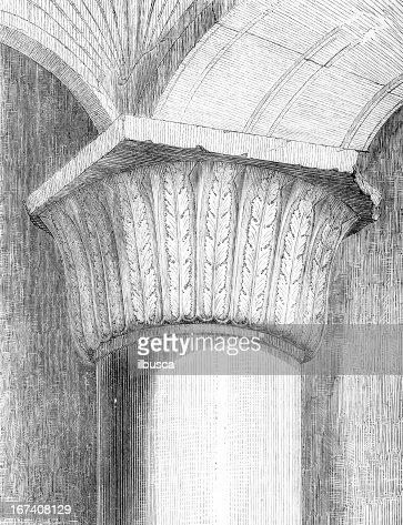 Jerusalem-Tempel Spalte Hauptstadt : Stock-Illustration