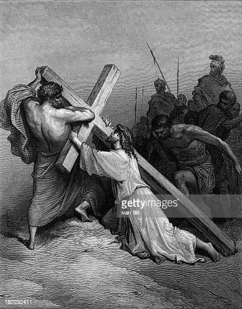 Jesus stumbles with the cross