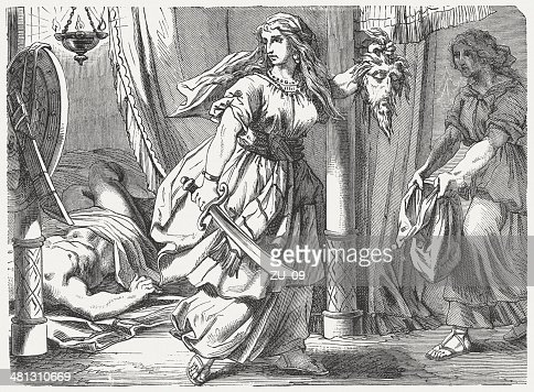 Judith kills Holofernes (Book of Judith 13), published in 1877