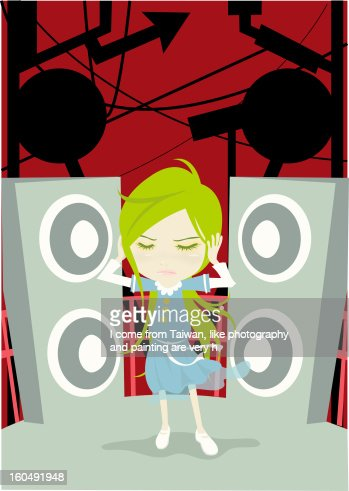 Just Leave Me Alone : Stock Illustration