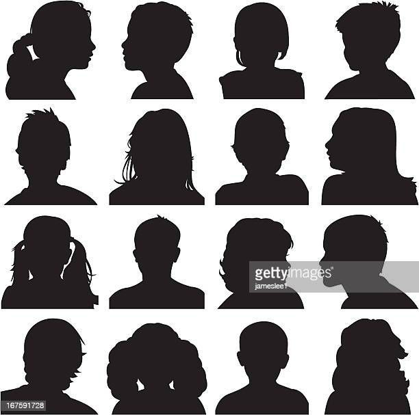 Kids Face Silhouettes
