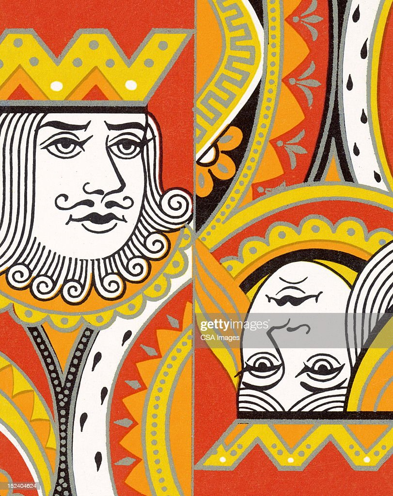 King and Queen : Stock Illustration
