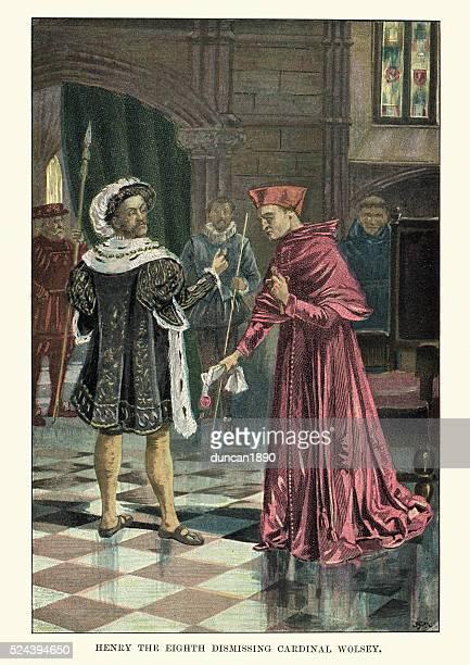 King Henry VIII dismissing Cardinal Wolsey