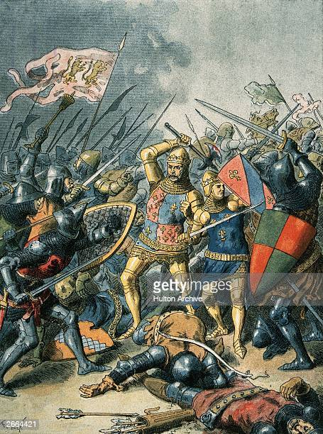 King John II of France in battle at Poitiers against the English during the Hundred Years' War 1356 It was during this battle that King John II was...