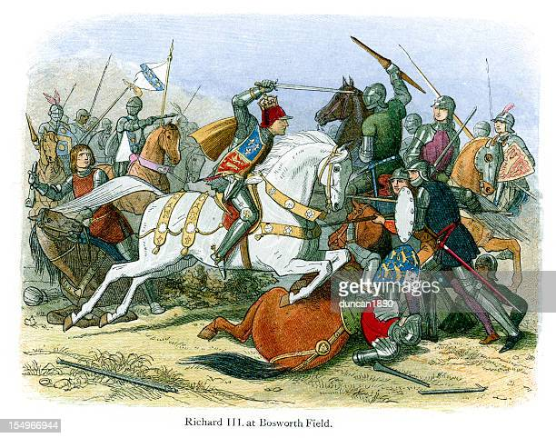King Richard III at the Battle of Bosworth Field