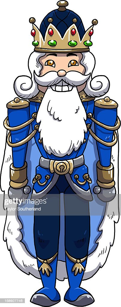 A king wearing a crown : Stock Illustration